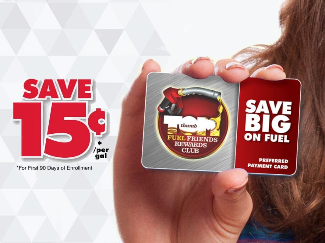 Save money on gas with the Tom Thumb Fuel Rewards Card
