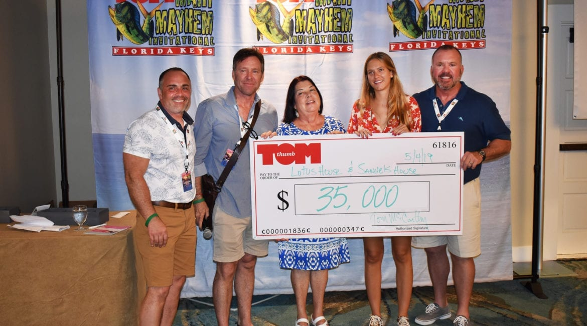 Tom Thumb Food Stores Raises $70,000 for Samuel's House and Lotus House during its Invitational Fishing Tournament