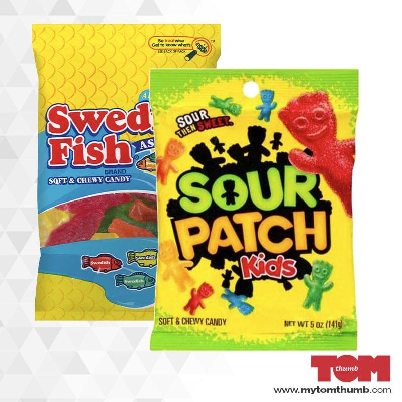 Sour Patch Kids & Swedish Fish (5oz)