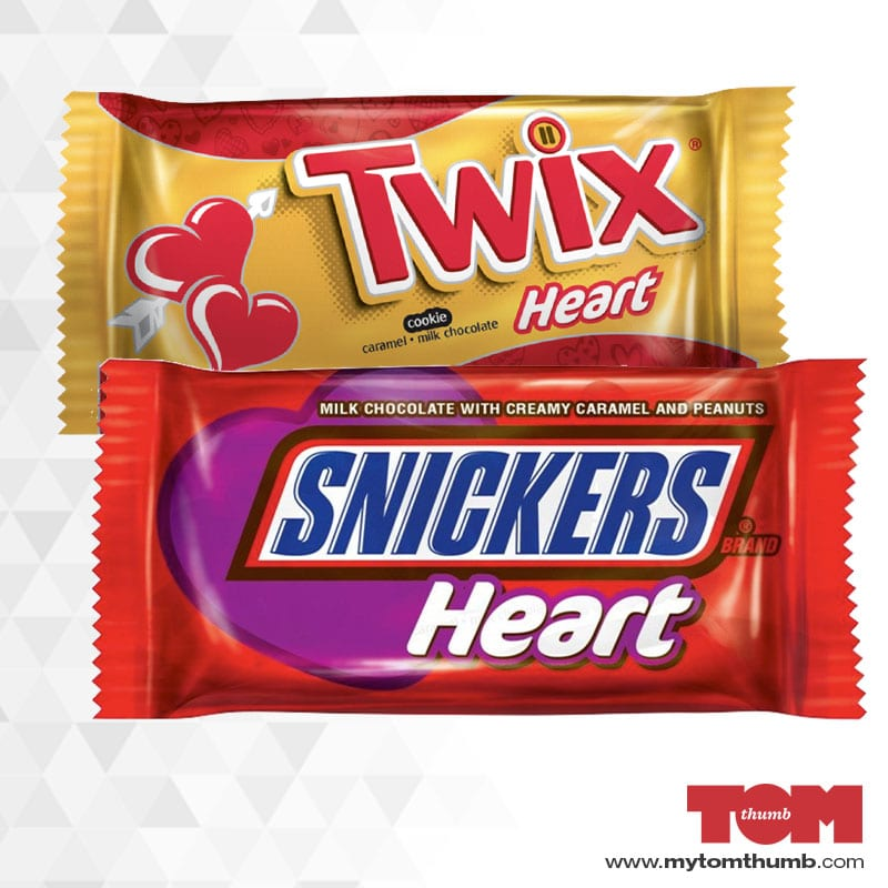 Snickers & Twix Hearts